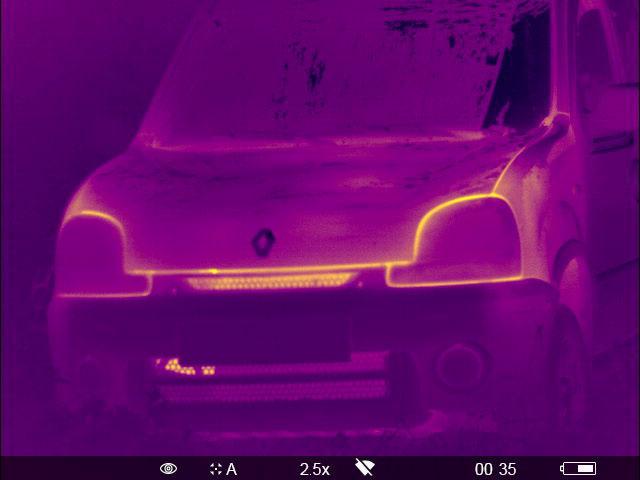 Wärmebild Auto
